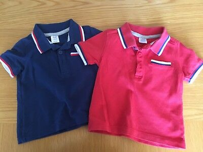 Boots Mini Club Baby Boys Red And Blue Polo T-Shirts, Size 9-12 Months