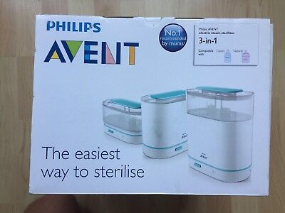 Brand New and Boxed Philips Avent 3-in-1 Electric Steam Steriliser SCF284/01