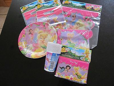 Tinkerbell Party cups, plates, napkins, invities, party bags, banner