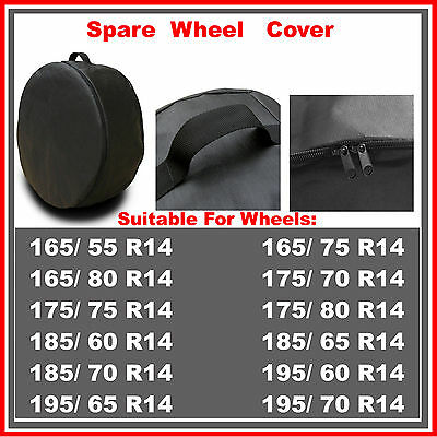 R14 Spare Wheel Cover Tyre Tire Storage Bag Car Van Caravan Motorhome Truck RW53