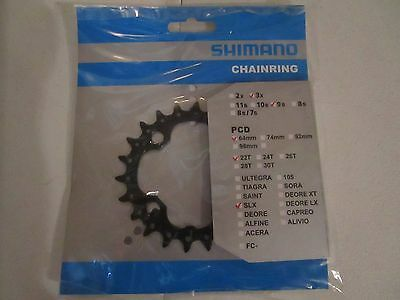 24-32-42 64mm BCD Shimano SLX FC-M660 24T Chainring 3x10 speed Type AE