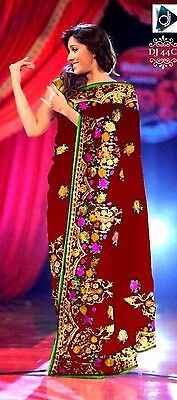 Party Wedding Wear Indian Pakistani Bollywood Designer Saree Sari Ethnic Lehenga