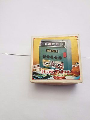 New Vintage Draw Poker Machine Made In Japan Cordless Electric Automatic W/Box