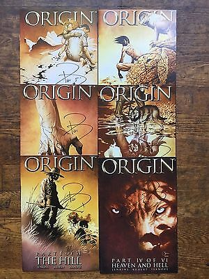 Origin #s 1,2,3,4,5,6,Wolverine,Complete Series,All Signed By Paul Jenkins-VF/NM