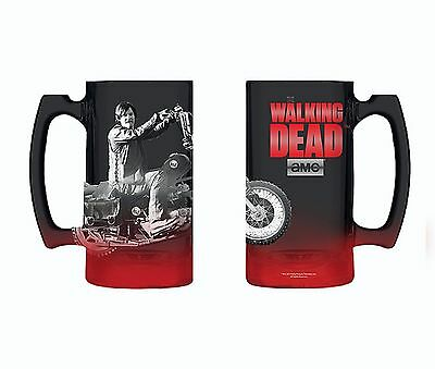 The Walking Dead Daryl Beer Mug Brand New Official Glass Stein Novelty Gift