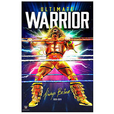 WWE Ultimate Warrior Always Believe Official Tribute Poster Rare WWF