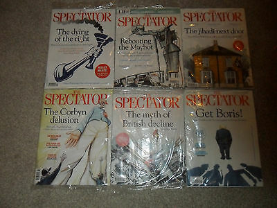 The latest 6 New Sealed Issues Of THE SPECTATOR Magazine (Up To 15 July 2017)