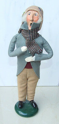 Byers Choice Caroler 1988 Victorian Male with Plad Scarf