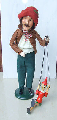 Byers Choice Caroler 1996 Puppeteer with Puppet on String