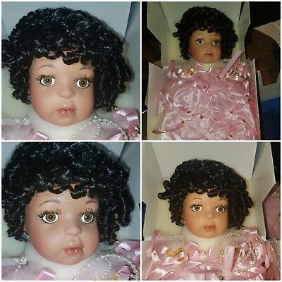 paradise galleries porcelain doll morning angel African American