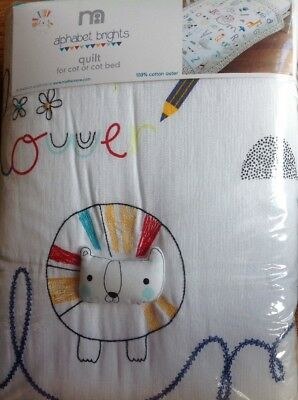 *** Brand New *** Mothercare Alphabet Brights Quilt For A Cot Or A Cotbed