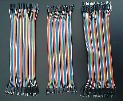 120 stk 20 cm Dupont Kabel Set MM +MF + FF Wire Jumper Buchse Stecker Breadboard