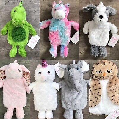 Hot Water Bottle Unicorn Dog Primark Teddy Plush Fluffy Gift Christmas Xmas
