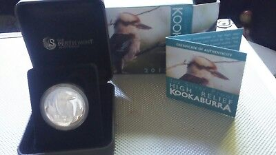 2012 1oz Proof Silver High Relief Kookaburra!!! Coin #01896 Out Of 10,000