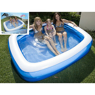Airtime Pool Inflatable Paddling pool for the family transparent 200x150x50CM