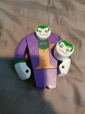 Lootcrate Exclusive DC Comics The Joker Painted Wooden Figure- NOT IN BOX