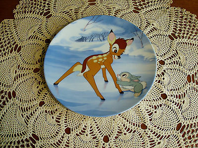 """""""Bambi's Skating Lesson"""" ~ Limited Edition Collector Plate #5"""