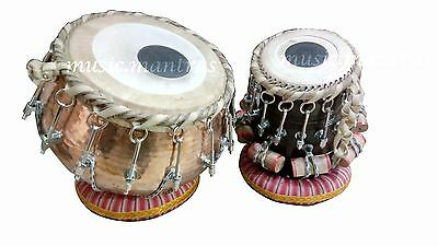 Professional Bahubali Tabla  Set Drum Copper Shesham Wood Dayan Indian Dholak