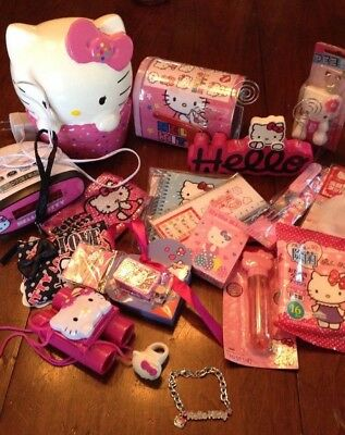 Hello Kitty Lot Of Miscellaneous Items