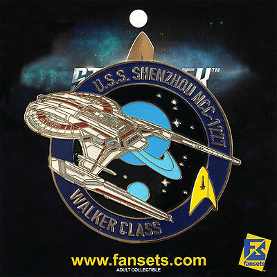 Star Trek Discovery USS Shenzhou Licensed FanSets MicroFleet Collector's Pin