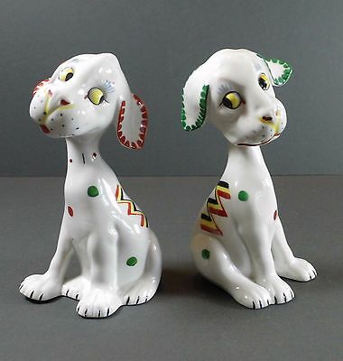 Two Vintage Art Deco Dogs from Germany