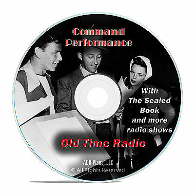 Command Performance, 621 Old Time Radio Shows, Music, Comedy OTR mp3 DVD G31