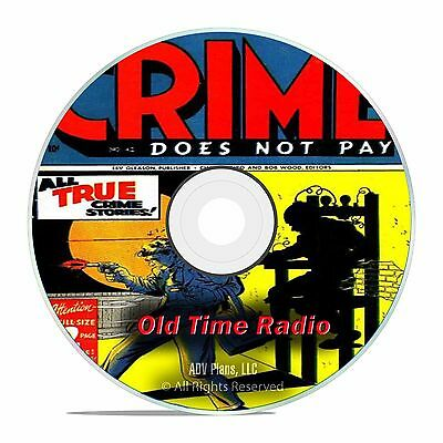 Crime Does Not Pay, 728 Old Time Radio Shows, Police Detective OTR mp3 DVD G35