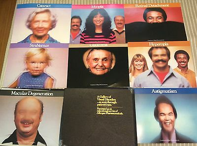 Vintage Allergan Eye conditions Posters