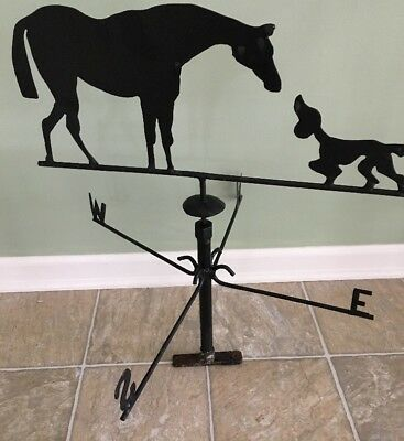 Vintage Weathervane Horse And Dog