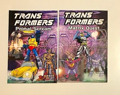 Transformers Primal Scream & Matrix Quest - Titan Books TPB Collection