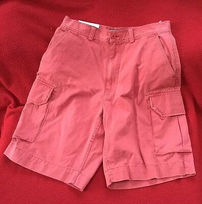 Mens Ralph Lauren Polo Cargo Shorts Size 33 Red Berry  Hellas Fatigue New Short