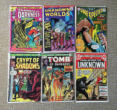 Mixed Silver and Bronze Age HORROR/ MYSTERY comic book lot of 6 Vintage