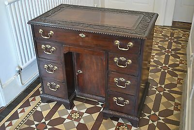 Antique Knee Hole Desk Ladies Desk Small Desk Mahogany Desk