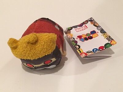 BRAND NEW Disney Store Tsum Tsum Guardians of the Galaxy Star Lord Mini Plush