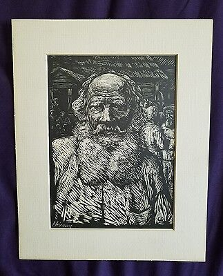 Vintage Original Etching Signed By The Artist Heroux