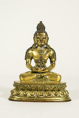 Chinese Qing Dynasty Gilt Bronze Seated Buddha