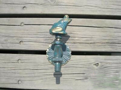 VTG Antique Frog Style Garden Wall Mounted Water Tap Brass&Copper Mix Faucet -1#