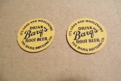Lot Of 2 Vintage Barg's Root Small Cardboard Token