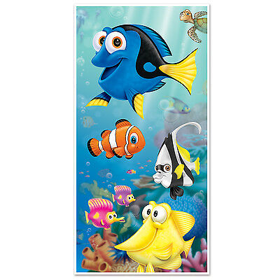 Under the Sea Door Cover Hanging Decoration Wall Clown Fish Birthday Party Event