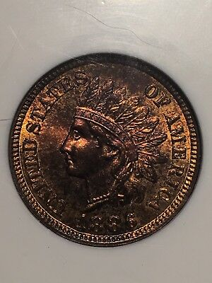 1886 Type 1 NGC MS65 RD Indian Head Cent