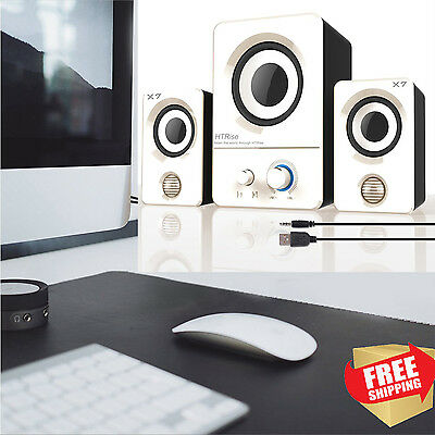 Gaming Multimedia Speakers USB System Subwoofer Desktop Computer Laptop Speaker