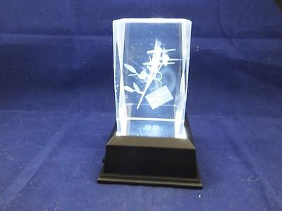 Solid Glass Crystal Laser Block and White Light Box - Happy Mothers Day.