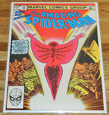 AMAZING SPIDER-MAN ANNUAL no.16 Marvel Comics 1982 key 1st new CAPTAIN MARVEL