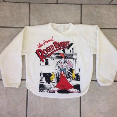 Vintage Rare 80s Who Framed Roger Rabbit Sweatshirt - Size Kid's Large