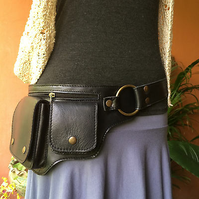 Leather Hip / Waist Bag Festival Utility Belt Steampunk Fanny Pack - The HIPSTER
