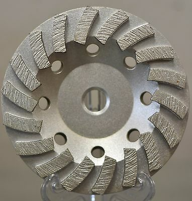 "4.5"" Turbo Diamond Grinding Cup Wheel for Concrete 14 Segs - 5/8""-11 Threads"