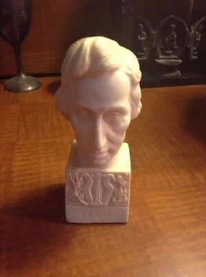 Vintage - Alabaster Bust of Frédéric CHOPIN  by A. GIANELLI - Italy