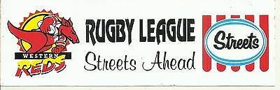 Streets Ice Cream Western Reds Rugby League Club Advertising Sticker