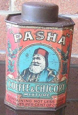 PASHA COFFEE & CHICORY 1lb AUSTRALIAN  TIN #2