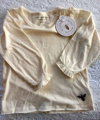 NWT Burt's Bees Baby Toddler Girl Organic Cotton T Shirt - Size 2T